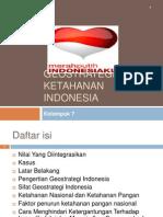 Geostrategi Dan Ketahanan Indonesia