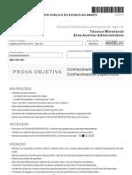 Fcc 2012 Mpe AP Tecnico Ministerial Auxiliar Administrativo Prova