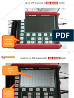 Schritt-für-Schritt Anleitung zu SPK Justierung für Karl Deutsch Ultraschall Geräte - Digital-ECHOGRAPH 1090