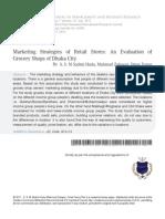 10 Marketing Stratigies of Retail Stores an Evaluation(1)