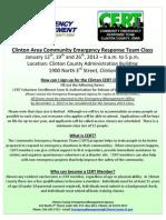 CERT Flyer - January 2013