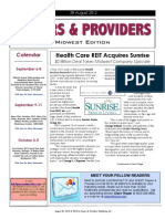 Payers & Providers Midwest Edition – Issue of August 28, 2012