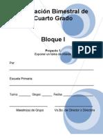 4to Grado - Bloque 1 - Proyecto 1