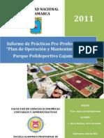 PLAN DE OPERACIÓN Y MANTENIMIENTO DEL PARQUE POLIDEPORTIVO CAJAMARCA