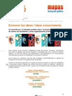 J2016 Ficha 11-Conocer las ideas / Idear conocimiento