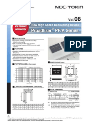 NEC//TOKIN 0E687 OE687 Proadlizer Capacitor nuevo