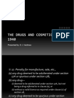 Drug and Cosmetic Act 1940 - II