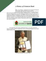 History of Grameen Bank