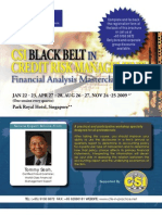 CSI Black Belt in Credit Risk Management - Financial Analysis Master Class (Singapore), featuring Mr. TOMMY SEAH