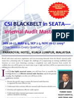 CSI Blackbelt in SEATA - Internal Audit Master Class (Malaysia), featuring Mr. TOMMY SEAH
