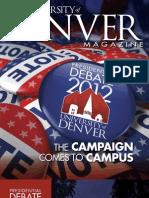 University of Denver Magazine Fall 2012 issue