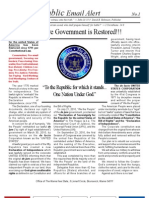 001 - Attention - DeJure Government is Restored