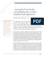 Ensuring the Trans-Pacific Partnership Becomes a Gold-Standard Trade Agreement