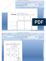 Filled in Factoring Graphic Organizer