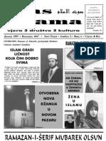 GLAS ISLAMA BROJ 1 JANUAR 1997.