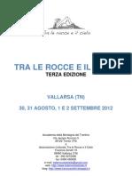 Programma Tra Le Rocce e Il Cielo 2012