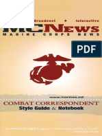 Combat Correspondent Style Guide and Notebook