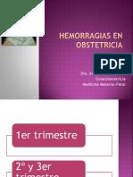 Hemorragias en Obstetricia