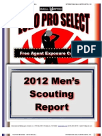 2012 Euro Pro Select Mens Scouting Report - iBall United