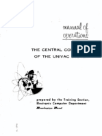 UNIVAC1 Operating Manual 1954