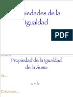 Propiedades Igualdad - Proyecto - Asignación 01 - Formato Laminas