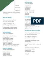 Brownie Song Sheet