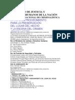 Manual de Procedimiento Para La Preservacion y Conservacion Del Lugar Del Hecho