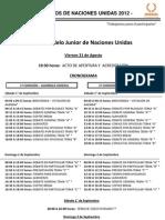 Cronograma XIV Modelo Junior