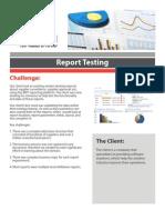 Report Testing