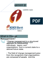 Change Management @ ICICI