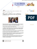 2012-08-09 HBS Noticias-Bogotá celebra con artistas