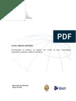 AFFONSO, Luiz Carlos. Comunidades de práticas na internet