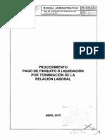 Pago Finiquito o Liq Term Relacion Laboral
