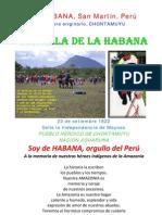 La Batalla de la Habana, Región San Martín - Perú.