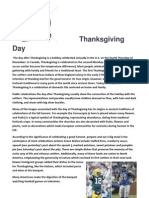 Thanksgiving Day - Trabalho de Inglês