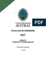 Ensayo Startup Tecnologica
