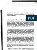 Lo real y lo virtual, Tomás Maldonado