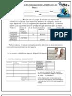 Ejercicio de Transacciones de Venta Con Factura Comercial