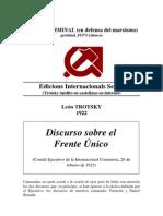 Discurso Trotsky Ante El CE de La Internacional 1922
