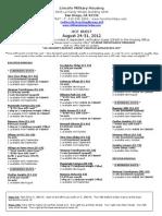 HotSheet August 24-31, 2012