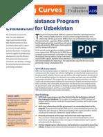 Country Assistance Program Evaluation for Uzbekistan