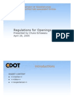Regulations Openings