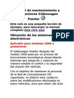 Manual de Mantenimiento y Reparaciones Volkswagen Pointer