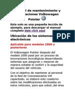 Manual de Mantenimiento y Reparaciones Volkswagen Pointer