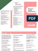 Women's  Health Maintenance Pamplet