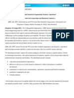 Press Relese Open Standards August 29