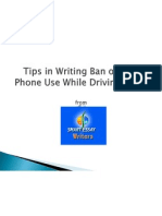 Tips in Writing Total Cell Phone Ban Paper