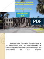1. Historia Del Desarrollo Organizacional 1er Parte