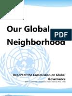 Our Global Neighborhood - Commission on Global Governance