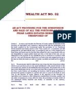 Commonwealth Act No 32